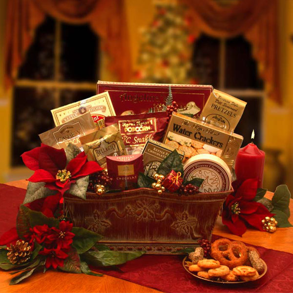 Buy holiday gift baskets food - Bountiful Blessings Holiday Gift Basket, Elegant Gift Baskets Online