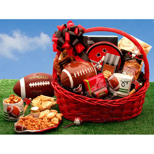 Buy sports gift baskets - Football Fanatic Sports Gift Basket, Elegant Gift Baskets Online