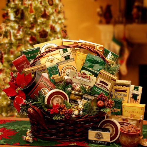 Buy holiday gourmet gift baskets - Grand Gatherings Holiday Gourmet Gift Basket, Elegant Gift Baskets